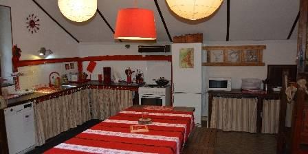 Gîte Montjoie Gite Loup salon/cuisine