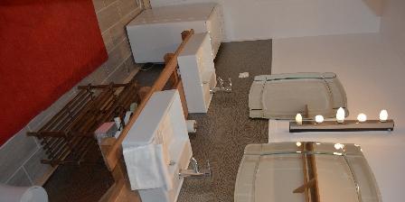 Gîte Montjoie Gite fleur salle de bain