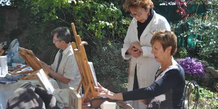 Maison d'hôtes Le Séminaire Cours de pastel dans les jardins de la Maison du Séminaire