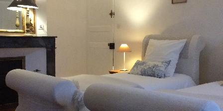 Le Manoir en Agenais 2 simple beds guest rooms au Manoir en Agenais