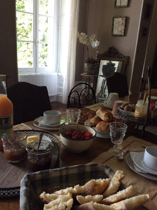 petits déjeuners du Manoir b&b vallée dulot