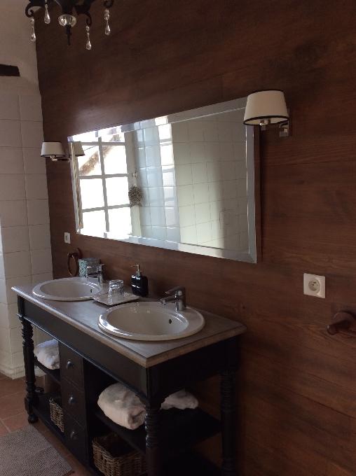 salle de bain privée chambre d'hôte du lot et garonne