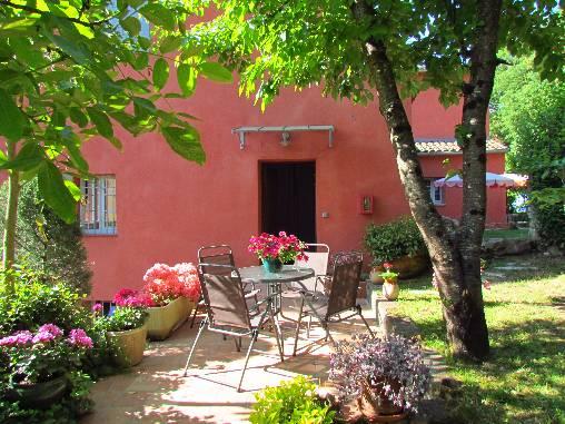 terrasse du Studio gite AGONDA