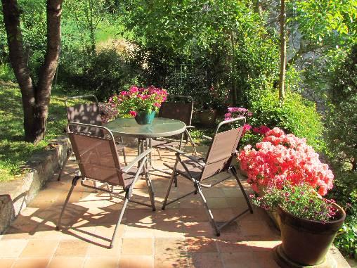 la terrasse privative du gite