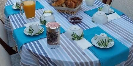 Cigales et Cigalons Petit déjeuner sur la terrasse