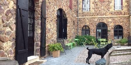 Castel des Cèdres Terrasse avant avec Dingo