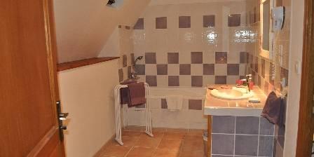 Le Clos Saint Vincent Salle de bain de la chambre parme