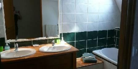 Le Clos Saint Vincent Chambre verte : salle de bain