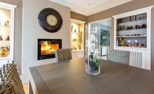 Chambre d'hote Morbihan - Le salon côté cheminée