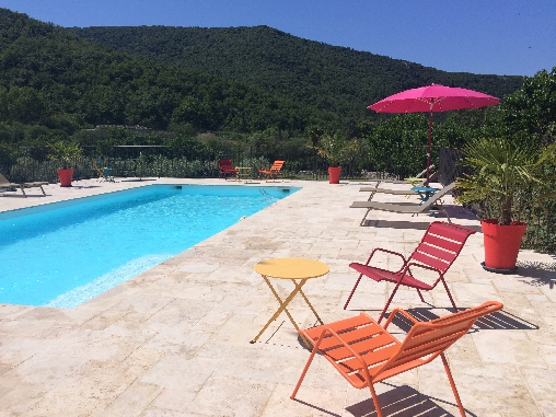 bed & breakfast Ardèche - POOL AREA HIGH-END
