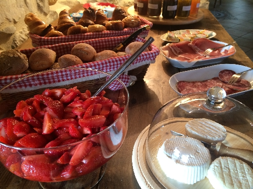 bed & breakfast Ardèche - Sweet / savory gourmet breakfasts