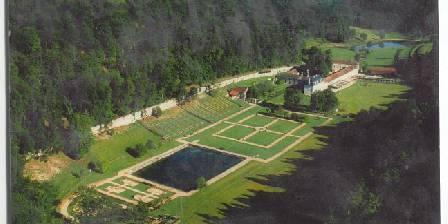 Abbaye du Val des Choues Vue aérienne de l'abbaye