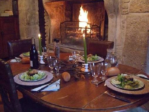 Diner au coin du feu
