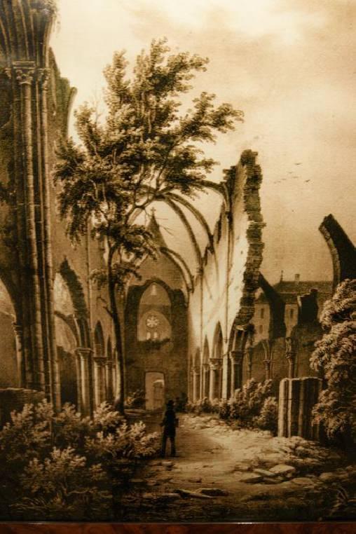 Les ruines de l'église avant la révolution