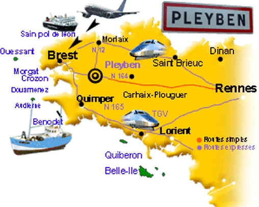 La situation de Pleyben