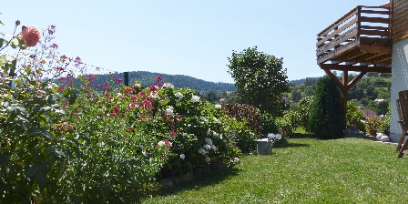 Chalet Le Rebberg Terrasse vue sur vallée