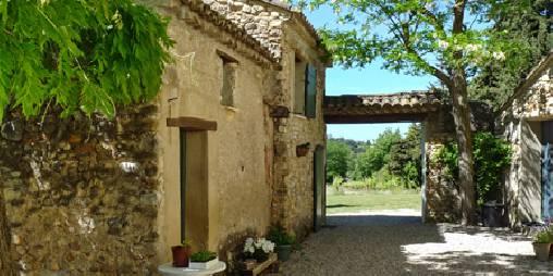 Chambre d'hote Vaucluse - Terrasse intérieure