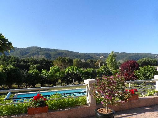 Chambre d'hote Alpes de Haute Provence - vue de la terrasse