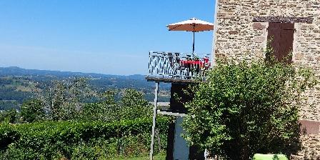 Gite La Chartroulle > gite la chartroulle vue de la terrasse