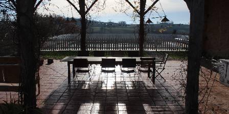 La Ferme de Maurel Grange et piscine - vue sur les Pyrénées