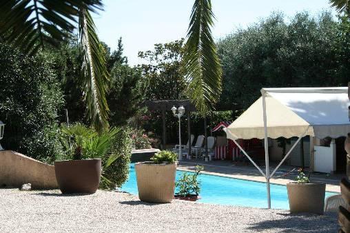 Chambre d'hote Gard - Vue sur piscine