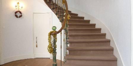 Chateau de Percy Escalier, accès à l'étage