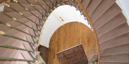 Chateau de Percy Escalier vu de l'étage