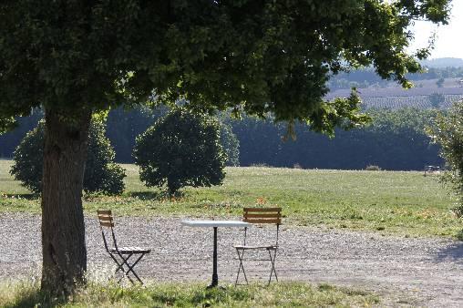 Les terrasses des chambres d'hôtes prés du Mont-Ventoux