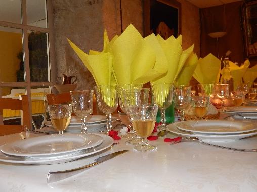Chambre d'hôtes Drôme provençale - la table d'hôtes