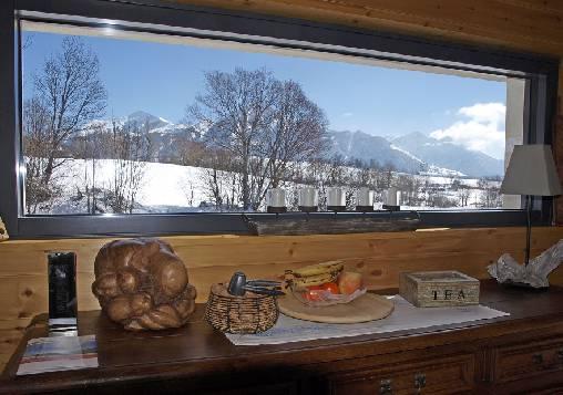 Chambre d'hote Hautes Alpes - Vue depuis la salle à manger