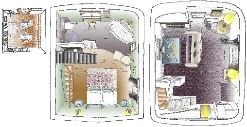 plan de la suite Chambres d`Hôtes Eze (06)