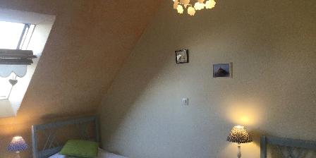 L'Angevinière Chambre 2 lits simples Gîte les Hortensias