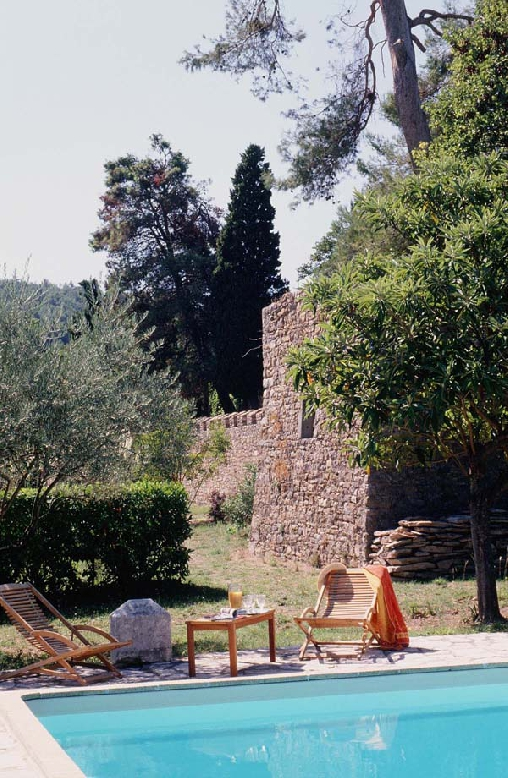 Château d'Agel, piscine