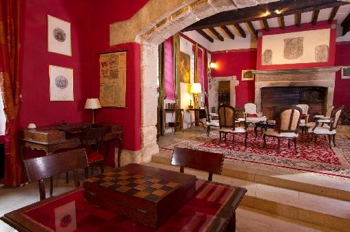 Château d'Agel, salon