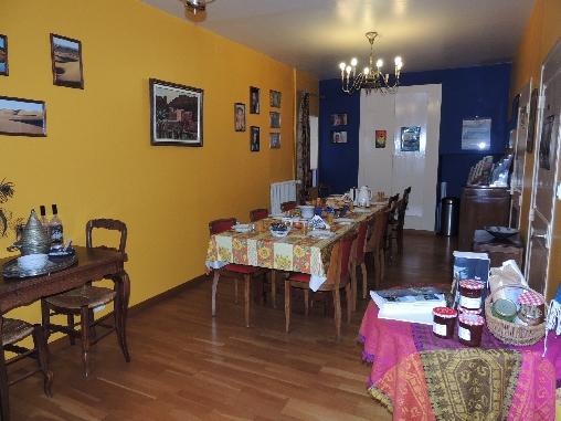 Chambre d'hote Creuse - la salle à manger
