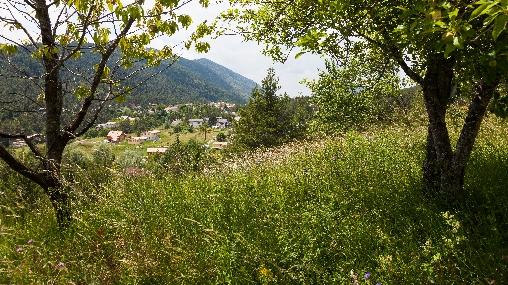 vue sur le village andon