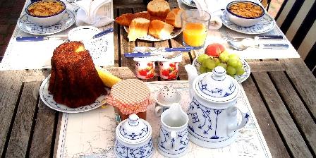 La Maison Bleue en Baie  Petit-déjeuner