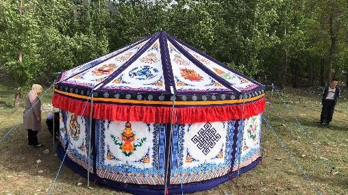 tente tibétaine nomade