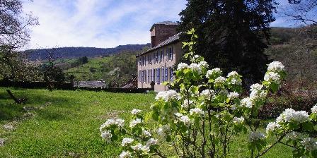 Château de Roquetaillade L'espace vert du château