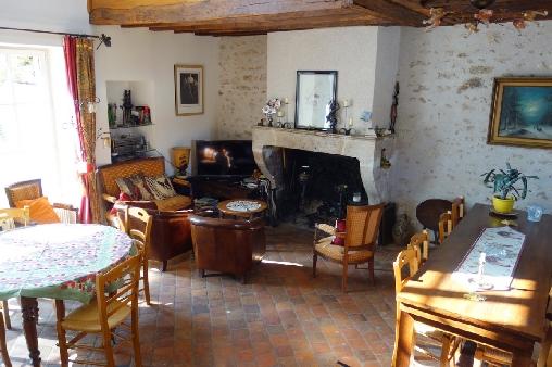 Chambre d'hote Loir-et-Cher - Les Salamandres, salle à manger salon