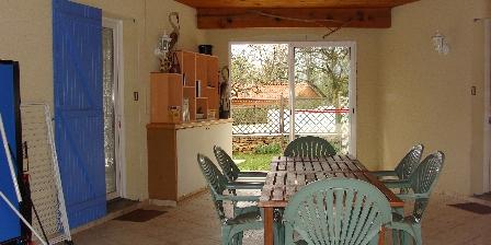 Cottage Gîte de Lescurou 8 pers. > patio