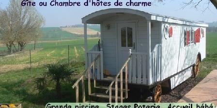 La Roulotte de Shanti La Roulotte de Shanti, Chambres d`Hôtes St Avit Frandat (32)