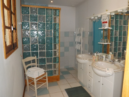 Chambre d'hote Aube - Salle de bain Chambre Forêt d'Orient