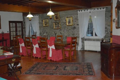 Chambre d'hote Ariège - Les Forges d'Enfalits, salle à manger