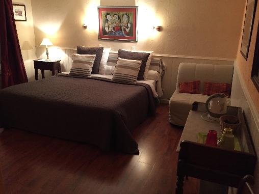 Chambre d'hote Loiret - chambre Abricot grand lit