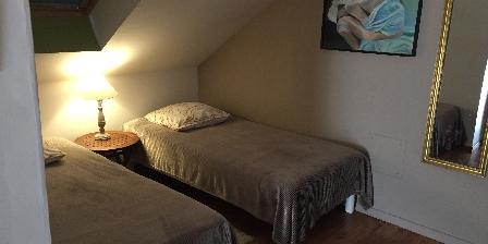 La Maison de Brian et Christiane Suite chambre Verte lits supplémentaires
