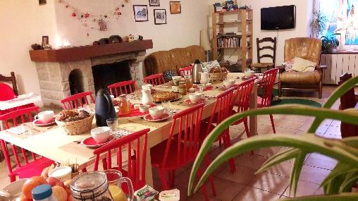 Chambre d'hote Ille-et-Vilaine - La Croix-Galliot, Salon salle à manger Cherrueix (35)