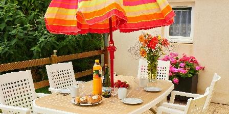 Gîte Ty Braz Salon de jardin sur terrasse