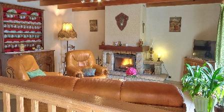 Gîte Ty Braz Salon et cheminée