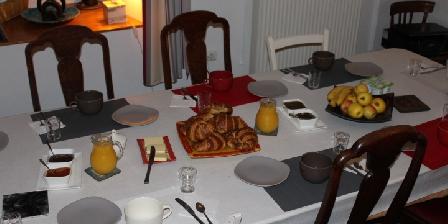 Chambre d'hotes Au Coeur de Rennes > La table du petit déjeuner